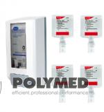 Dezinfectant de maini Soft Care Des E H5, incolor 5.2L + dispenser manual CADOU