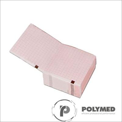 Hartie ECG in Z pentru Schiller AT-1, caroiaj rosu, 90 mm x 90 mm
