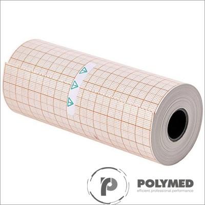 Hartie ECG pentru BTL08MT, caroiaj rosu, 112 mm x 25 mm, role