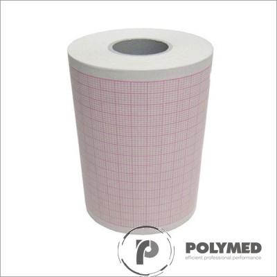 Hartie ECG pentru Cardiorapid K33M, caroiaj rosu, 120 mm x 30 mm, role