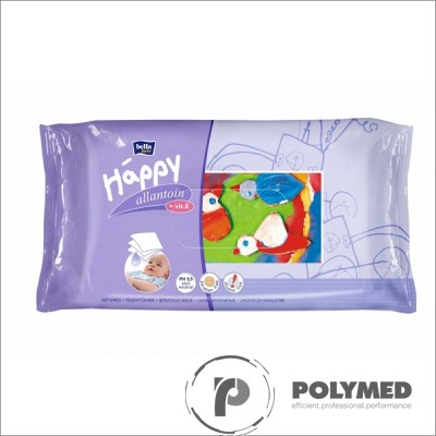 Servetele umede Happy, cu lotiune, duo pack - Polymed