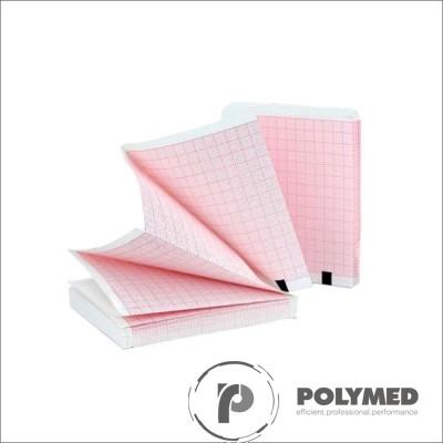 Hartie ECG in Z pentru Philips/Agilent Page Writer Trim 1/2/3, caroiaj rosu, 210 mm x 300 mm