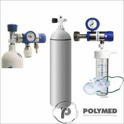 Butelie oxigen - set complet oxigenoterapie, 20 litri - Polymed