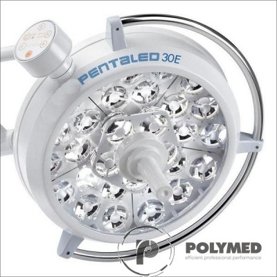 Lampa operatie Pentaled 105+30E montare pe tavan - Polymed