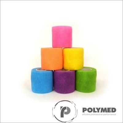 Bandaj coeziv, rola, 5 cm x 4.5 m, rola, diverse culori