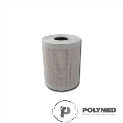 Hartie ECG pentru Aspel Ascard, caroiaj rosu, 58 mm x 25 m, role