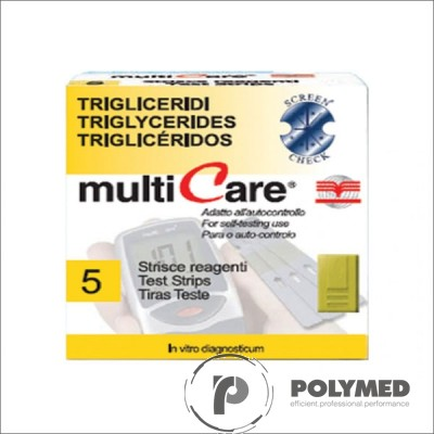este trigliceride pentru Multicare IN - 5 teste - Polymed
