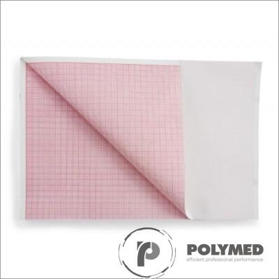 Hartie ECG in Z pentru Bioset 3600/3700, caroiaj rosu, 110 mm x 100 mm