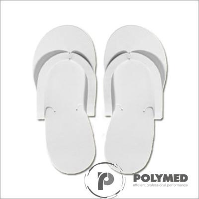 Papuci polistiren expandat interdeget, albi, 50 buc. - Polymed