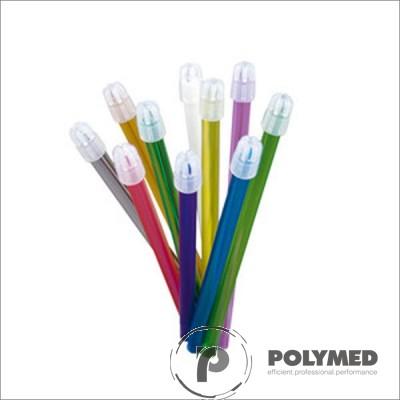 Aspirator saliva cu cap detasabil, transparent, diverse culori, 100 buc.