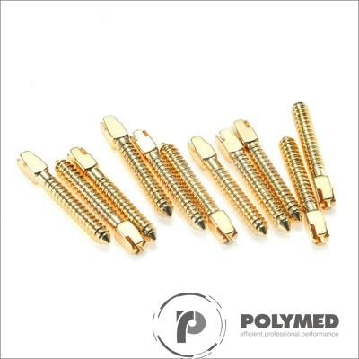 Pivoti endodontici otel-inox aurit, diverse marimi, 10 buc.