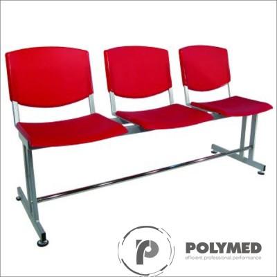 Bancheta sala asteptare, 3 locuri, BSA 3P - Polymed