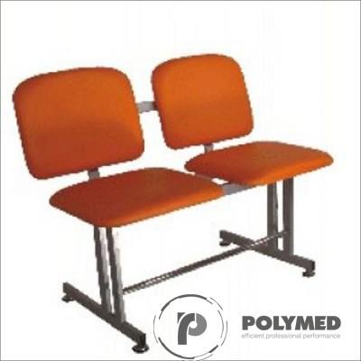 Bancheta sala asteptare, 2 locuri, BSA 2 - Polymed