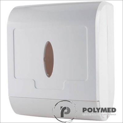 Dispenser plastic prosoape hartie pliate in C si M