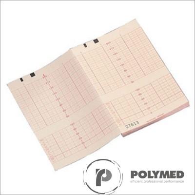 Hartie ECG in Z pentru Cadence MFM-2, caroiaj rosu, 112 mm x 90 mm