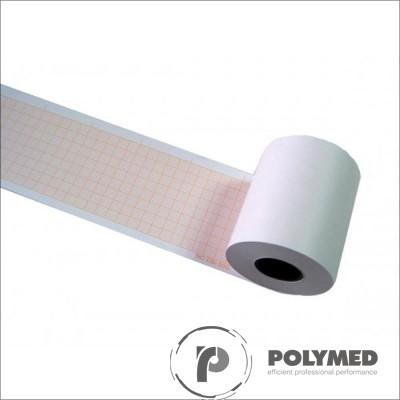 Hartie ECG pentru Cardioline, Aspel, caroiaj rosu, 60 mm x 30 m, role
