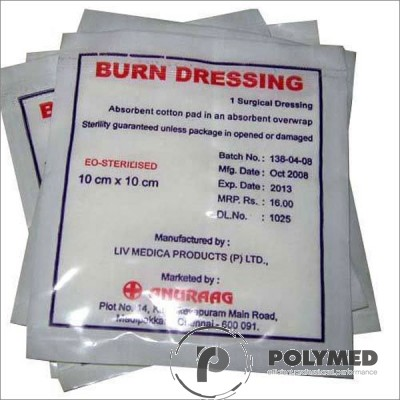 Compresa gel calmant arsuri, sterila, diverse dimensiuni