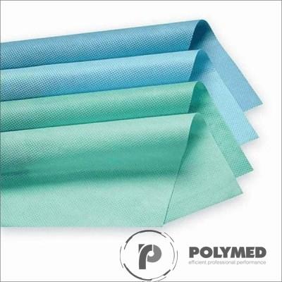 Hartie creponata sterilizare autoclav, 100x100 cm, albastru/verde, 250 buc.