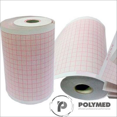 Hartie ECG pentru Schiller, caroiaj rosu, 130 mm x 30 m, role