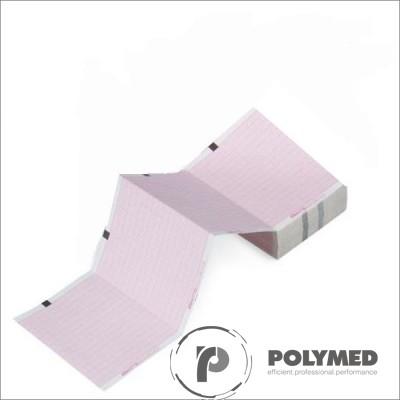 Hartie ECG in Z pentru Esaote P8000, caroiaj rosu, 80 mm x 70 mm