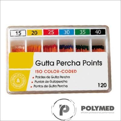 Conuri Gutta Percha asortate, 15-40, 120 buc.