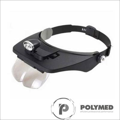 Lupa Light Head Magnifying, 4 mariri - Polymed