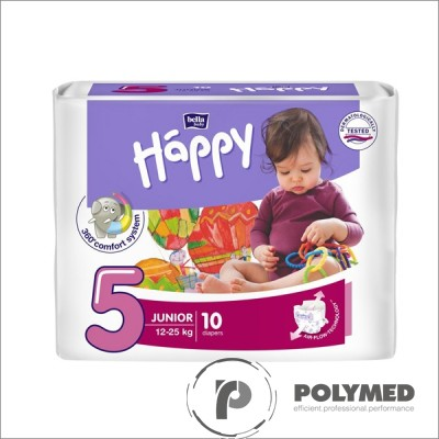 Scutece copii Happy Junior, 12-25 kg - Polymed