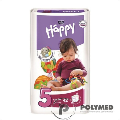 Scutece copii Happy Junior 42, 12-25 kg - Polymed