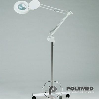Lampa de examinare cu lupa + suport mobil - Polymed