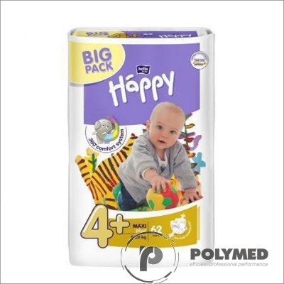 Scutece copii Happy Maxi Plus, 9-20 kg - Polymed