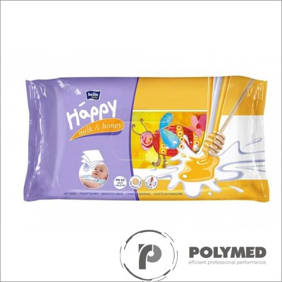 Servetele umede Happy Milk&Honey - Polymed