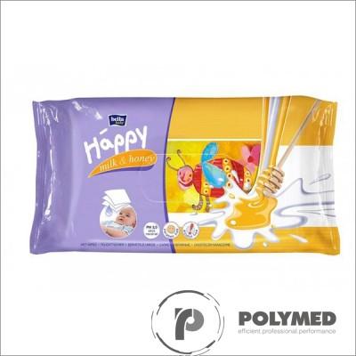 Servetele umede Happy Milk&Honey, duo pack - Polymed