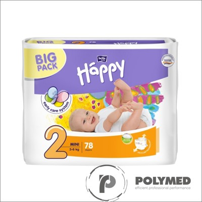 Scutece nou-nascuti Happy Mini, 3-6 kg - Polymed
