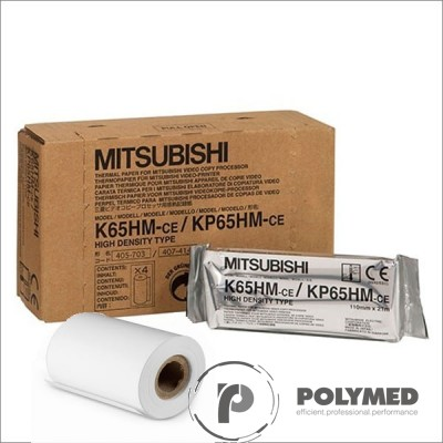 Hartie termica, High Density originala, pentru Video Printer Mitsubishi, K65HM-CE, 110 mm x 20 m, 1 rola