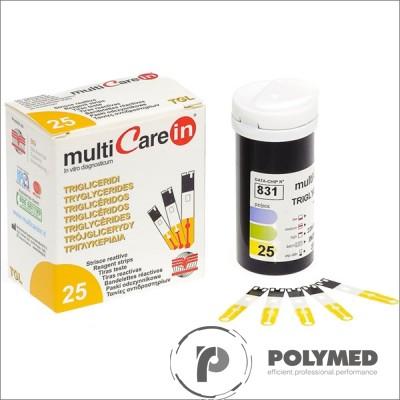 Teste trigliceride pentru Multicare IN - 25 teste - Polymed