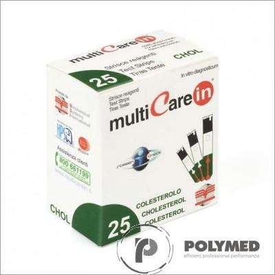 Teste colesterol pentru Multicare IN - 25 teste - Polymed