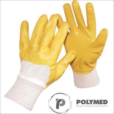 Manusi protectie, tricotate, cauciuc nitrilic partial - Polymed
