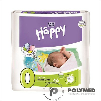 Scutece copii Happy Before New Born, <2kg - Polymed