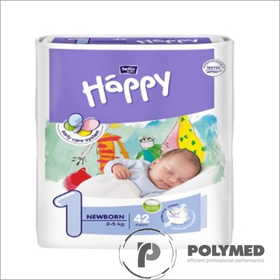 Scutece copii Happy New Born, 2-5 kg - Polymed