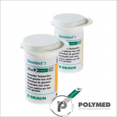 Teste glicemie Omnitest 3 Test Strips - Polymed