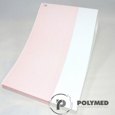 Hartie ECG in Z pentru Welch Allyn CP100/CP200, caroiaj rosu, 210 mm x 280 mm, 300 coli