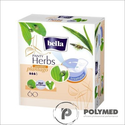 Absorbante zilnice Bella Herbs Panty Sensitive Patlagina 60 - Polymed