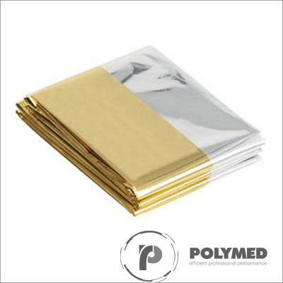 Patura izoterma, auriu-argintiu, 210 cm x 160 cm