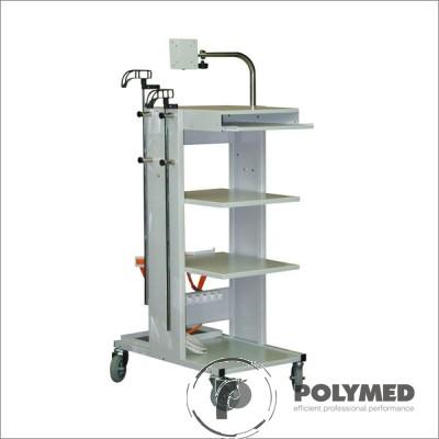Troliu aparate R4B, suport 2 butelii oxigen - Polymed