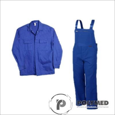 Costum salopeta cu pieptar, albastru royal, S-XL - Polymed