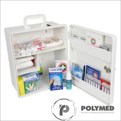 Trusa sanitara de prim-ajutor, nedetasabila, cu suport perete, avizata MS
