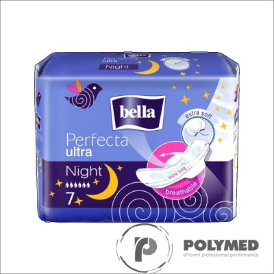 Absorbante subtiri Perfecta Night Extra Soft - Polymed